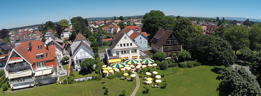 Strandcafe Langenargen Hotel Cafe Außen Vogelperspektive