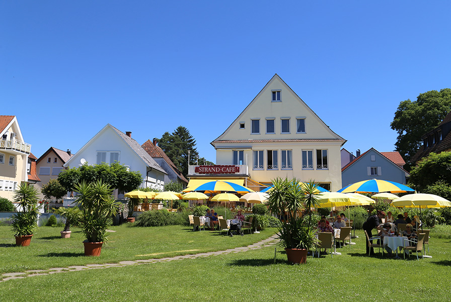 Strandcafe Langenargen Hotel Cafe Seeseite Außen