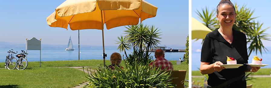 Strandcafe Langenargen Kaffeehaus Außen Seeblick