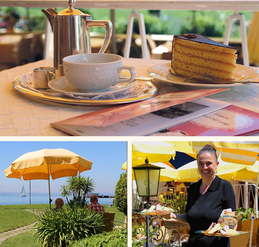 Strandcafe Langenargen Kaffeehaus Außen Seeblick Mobile